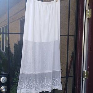 Ashlynn Kate maxi lace skirt nwt